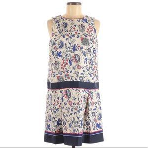 Ann Taylor Loft Floral Sleeveless Pleated Dress